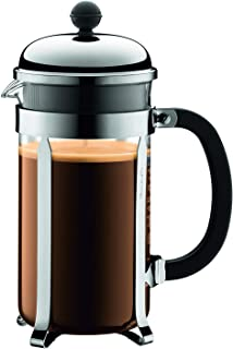 Bodum Chambord French Press Coffee Maker, 1 Liter, 34 Ounce, Chrome