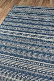 Novogratz Villa Collection Tuscany Indoor/Outdoor Area Rug, 3'11' x 5'7', Blue