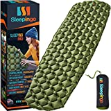 Sleepingo Camping Sleeping Pad - Mat, (Large), Ultralight 14.5 OZ, Best Sleeping Pads for Backpacking, Hiking Air Mattress - Lightweight, Inflatable & Compact, Camp Sleep Pad