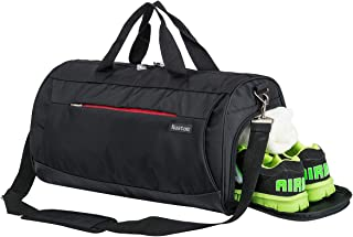 Kuston Sports Small Gym Bag for Men and Women Travel Duffel Bag Workout Bag with Shoes..