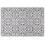 Vinyl Floor Mat, Durable, Soft and Easy to Clean, Ideal for Kitchen Floor, Mudroom or Pet Food Mat. Freestyle, Wrought Iron Deco Pattern (2 ft x 3 ft)