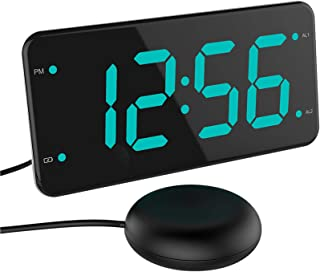Loud Alarm Clock with Bed Shaker, Vibrating Alarm Clock for Heavy Sleepers, Deaf and Hard..