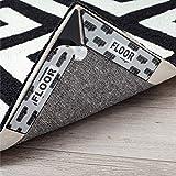 Gorilla Grip Rug Gripper, Dual Sided Anti Curl Corner Side Grippers, 16 Piece Reusable Washable Patent Pending Pads, Keep Area Rugs Flat on Hardwood Floors, Easy Peel Adhesive Pad Grips Carpet Corners