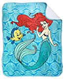 Jay Franco Disney The Little Mermaid Spirit of The Sea Sherpa Throw Blanket - Measures 50 x 60 inches, Kids Bedding Features Ariel - Fade Resistant Super Soft - (Official Disney Product)