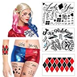 HQ Full Body Temporary Tattoo Bundle - 3 Sheets w/ 24 Tats - Costume/Cosplay