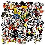 ZJJHX Cute Dibujos Animados Mickey Mouse Donald Duck Graffiti Pegatinas Maleta monopatín Guitarra teléfono Impermeable Pegatina de Coche 50 Hojas