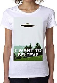 PasTomka I Want To Believe Women's T-Shirt Camiseta Mujer