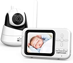 "DBPOWER Video Baby Monitor with Camera and Audio, 360°Pan 3.5"" LCD Up to 4 Cameras,.."