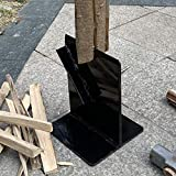 Hi Flame Firewood Kindling Splitter for Wood Stove Fireplace and Fire Pits, Black