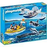 Playmobil 5920 - City Action - Ensemble d'observation des balaines flottant - Accessoires incluses
