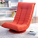Merax Sleeper Floor Chair Swivel Video Rocker Gaming Chair Adjustable Angle Chair Folded Floor Chair Gaming Chairs for Adults