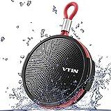 VTIN Shower Speaker Q1 Bluetooth Waterproof 8W Speaker with Suction Cup, Portable Bluetooth Speaker you can hang, 10H playtime Mini Speaker Portable, Built in Mic/TF Card Slot/33ft Range