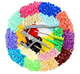 ilauke 400 Sets Snap Buttons with Snap Pliers T5 Plastic Snaps No-Sew Buttons Fastener Setter for Clothing Diapers Bibs Rain Coat Crafting