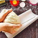 BUZIFU Tela de Lino para Masa Pan, Panadero Lino para Hacer Baguettes y Panes, Tela Panadero, Paño Panadero, Rápida Fermentación de la Masa, Tamaño 90cm x 60cm, De Color Crema