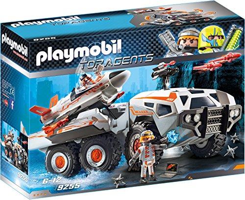Playmobil- Top Agents Giocattolo Mezzo D'Assalto dello Spy Team, Multicolore, 9255