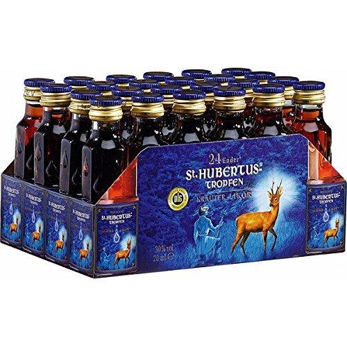 St.Hubertus-Tropfen Kräuterlikör, 24er Pack, 24 x 20 ml