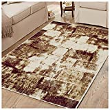 Superior 8mm Pile Height with Jute Backing, Abstract Vintage Distressed Pattern, Fashionable and Affordable Woven Rugs, 8' x 10' Rug