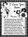 Blue Mountain Arts Miniature Easel Print with Magnet 'I Love You, Sister' 4.9 x 3.6 in., Perfect Christmas, Birthday, or Anytime Gift for a Sister, by Marci and the Children of the Inner Light