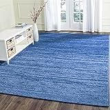 Safavieh Adirondack Collection ADR113F Light Blue and Dark Blue Modern Abstract Area Rug (3' x 5')