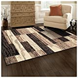 SUPERIOR Rockwood Indoor Area Rug, 4' x 6', Chocolate