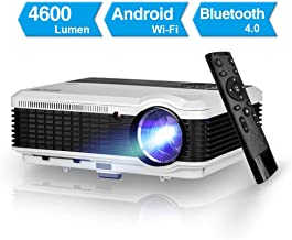 4600 Lumen Android Bluetooth LCD Video Projector-Multimedia HDMI USB RCA Audio VGA AV..