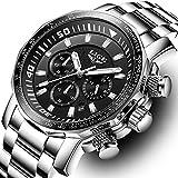 Men Watch LIGE Top Brand Luxury Fashion Quartz Clock Men's Business Waterproof Big Dial Military Sport Watches 71