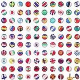Punaises Creative Punaises Drapeau National Push Pins de Carte du Pays pour Tableau d'Affichage,...