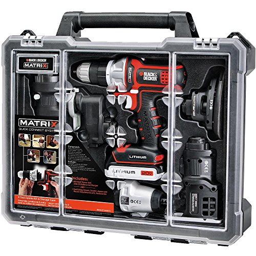 BLACK+DECKER Cordless Drill Combo Kit with Case, 6-Tool...