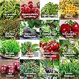 """Samen Gemüse Set""""indoor-Mix"""" - perfektes Saatgut (100% Natursamen) für Balkon, Gewächshaus, Wohnung, Terasse, Fensterbank - nahezu 100% Keimrate"""