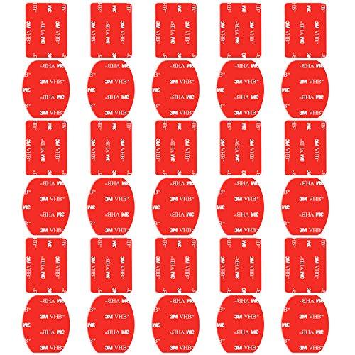 Neewer Set di Cuscinetto Adesivo,Curvo e Piatto per GoPro Hero 6 5 4 3+ 3 2 Session 5 Black AKASO EK7000 Apeman SJ4000 5000 6000 DBPOWER AKASO WiMiUS Rollei QUMOX Campark Sony DV.