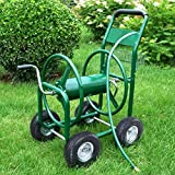 Trendy-Product Very Heavy Duty Water Hose Reel Cart 300FT for Outdoor Garden Yard Planting With Basket
