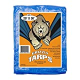 B-Air Grizzly Tarps - Large Multi-Purpose, Waterproof, Heavy Duty Tarp Poly Cover - 5 Mil Thick (Blue - 8 x 10 Feet)