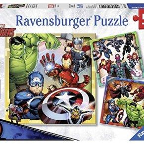 Ravensburger - Puzzle 3 x 49, Avengers (08040)
