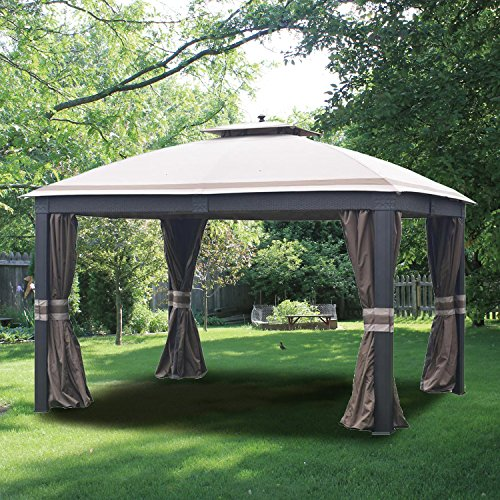 Allen Roth Wicker Gazebo Replacement Parts:Replacement gazebo canopy
