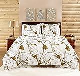 Realtree APC 3 Piece Comforter Set, Full, Bright Snow