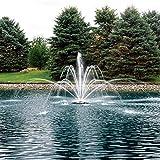The Pond Guy AquaStream Premium Double Arch Geyser Fountain Nozzle 1/2 HP