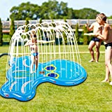 Soopotay Splash Pad for Toddlers & Kids, Splash Play Mat 68' for 1 2 3 4 5 Year Old Boy Girl, Water Sprinkler Pad for Children Outdoor Play-Octopus, Blue