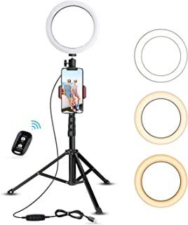 """8"""" Selfie Ring Light with Tripod Stand & Cell Phone Holder for Live.."""
