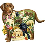 Bits and Pieces - 750 Piece Shaped Puzzle - Lovable Labs, Labrador Dog Puppies - by Artist Jack Williams - 750 pc Jigsaw