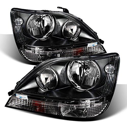 ACANII - For Blk 1999-2003 Lexus RX300 Headlights lamps Lights Driver + Passenger Side 99 00 01 02 03