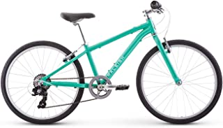 Raleigh Bikes Alysa 24 Kids Flat Bar Road Bike for Girls Youth 8-12 Years Old Teal