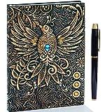 Vintage Cuir Notebook,Ancien Journal,Carnet Cahier,Couverture Rigide,Lined...