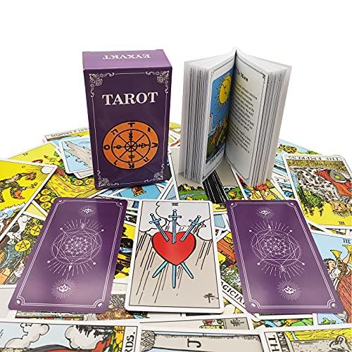 EYXVKT Tarot Cards Classic Tarot Decks 78 Cards with...