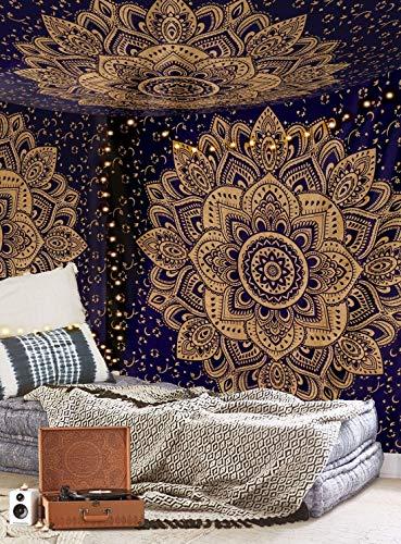 Aakriti Gallery Tapestry Regina Verde Ombre Hippie Arazzo Mandala Bohemian Psichedelico intricato...