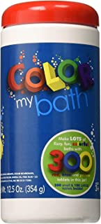 Color My Bath – 300 Tablet Jar – Fizzing Tub Water Primary Color Changing..