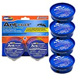 Home Plus Ant Killer (4-Pack), Metal Ant Traps Indoor & Outdoor, Ant Bait Station, Pet Safe Ant Killer, Effective Ant Control System, 4 Cans Ant Bait Traps, Ant Repellent, Ant Poison Indoor Outdoor