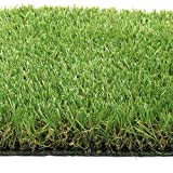 Synturfmats Synthetic Turf Artificial Grass Lawn 5'x10' Rubber Backed With Drainage Holes