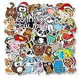 TTBH Paquete de Pegatinas de Animales para el portátil, Nevera, teléfono, monopatín, Maleta de Viaje, Bonito Dibujo Animado Vsco Sticker50Pcs