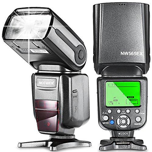 Neewer NW565EX E-TTL Flash Esclavo Speedlite para Canon 7D Mark II 5D Mark II III IV 1300D...