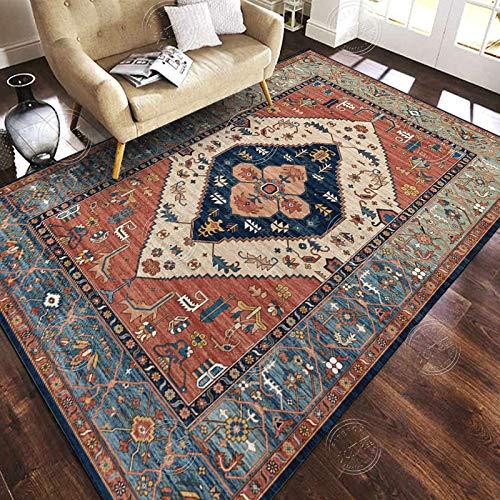 STJPJ Tappeti Persiano Turco Corte Europea Vintage Distressed Carpet Soggiorno Divano Tavolino Mat...
